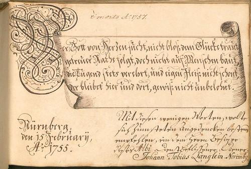 Liber Amicorum - Johann Christian Sigmund Mönch j