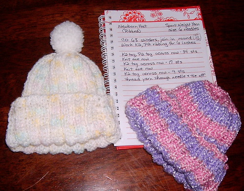 Here s the pattern I came up with from that hat  (click the title to go to  the pattern)  U Stretchy Ribbed Newborn Hat - In the Round  U  a6d554698c1