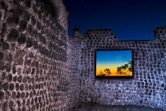Can House at Nettleton's First Shaft (Garry - www.visionandimagination.com) Tags: old blue sunset red history window beer bottle desert australia can outback remote cans bottlehouse isolated theperfectphotographer nettletonsfirstshaft wwwvisionandimaginationcom