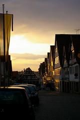 Sunset in Marbach (Reedcat) Tags: germany deutschland altstadt neckar fachwerk marbach