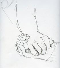Handen - samengevouwen (catootjee) Tags: white black pencil painting hands paint drawing study zwart wit handen studie tekening potlood samengevouwen