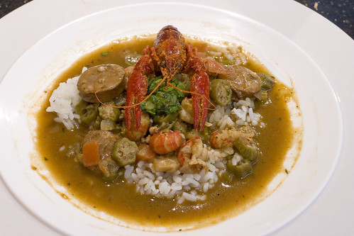 Crawfish Gumbo over Rice