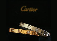 ~ (Creative_photography) Tags: love diamonds canon silver gold cartier bracelet jewelery aak missingu