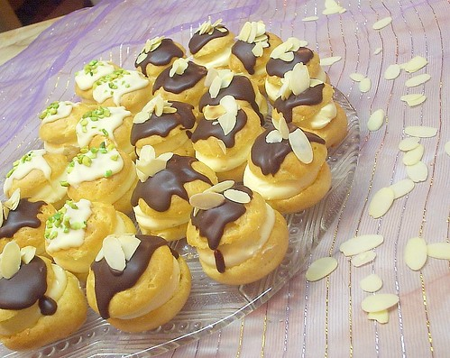 Profiterole with Almond Crème by you.