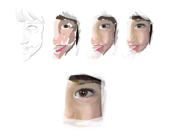 porträt steps