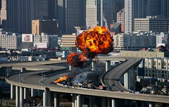 Fireball V (Generik11) Tags: sf people cars architecture explosion fireball trauma sfist timing filmingfortelevision