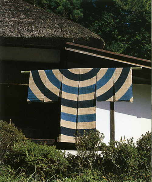 Traditional indigo textile scarecrow, Japan