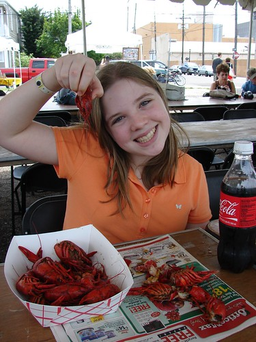 Bailey Eats Crawfish!