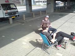 Ontbijt onder de brug in Eindhoven (HarmvVugt) Tags: rolf ralf camper lt strp lt35