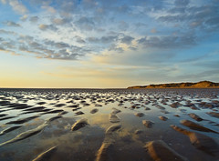 Formby Beach, Merseyside (Corica) Tags: greatbritain sunset england sky beach water clouds landscape sand britain dune ripples merseyside formby irishsea corica dapagroupmeritaward3
