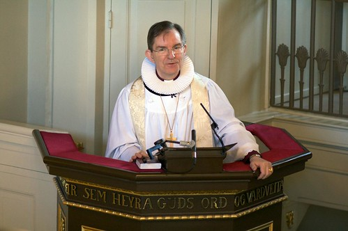 Hr. Karl Sigurbjörnsson, biskup Íslands, prédikar