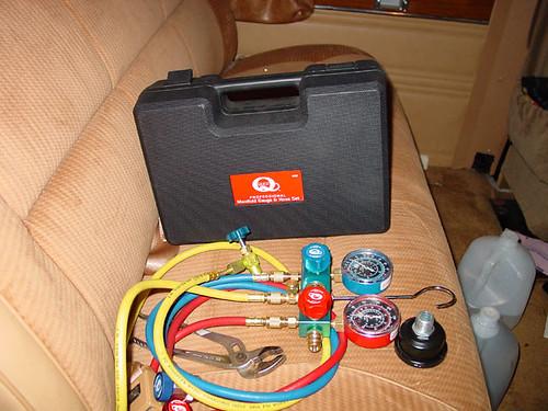 how to retrofit an air compressor into a vacuum pump for A/C purposes