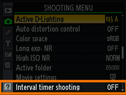 Nikon D5000 has interval timer shooting