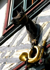 A mojo by mail? (:Linda:) Tags: horse music architecture germany town timber thuringia luck instrument horseshoe horn musik mojo halftimbered fachwerk glcksbringer meiningen fachwerkhaus timberframing timberconstruction
