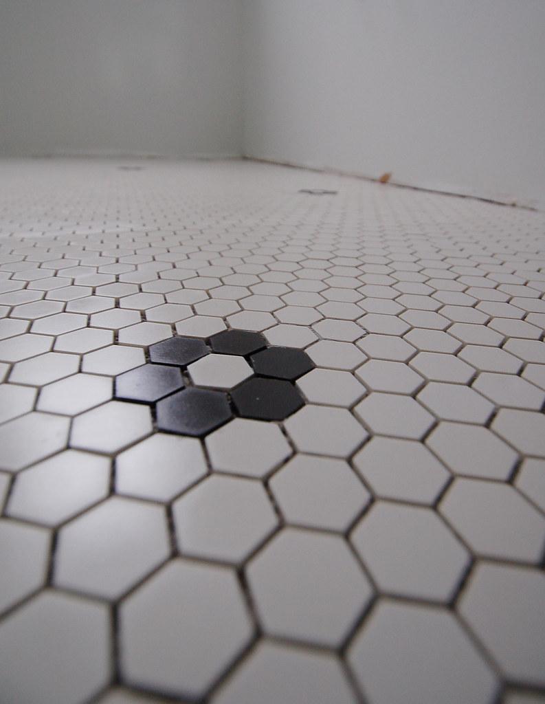 hex tile, pre-grout