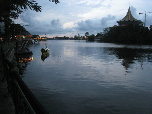 Kuching Riverfront at sunset