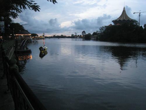 Kuching Riverfront at sunset
