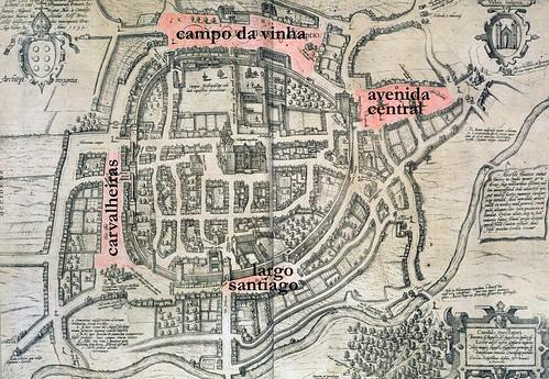 mapa de Braga (braunio 1594) (versão maior) by projectaravenidas