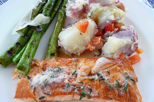 Salmon with Brown Butter & Thyme Sauce Recipe - Cookin Canuck