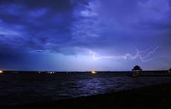 Lightning over Lake Houston 1 (Cytamius) Tags: sky cloud lake storm nature rain weather lightning thunder