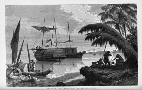 001-Los Ríos Amazonas y Madeira 1875- Embarcaciones el Amazonas y el Madeira