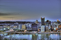 Pittsburgh at dusk (Dave DiCello) Tags: bridge ohio sun color reflection beautiful photoshop river point landscape high nikon downtown pittsburgh cityscape shine dynamic bright fort steel pitt usx range hdr allegheny monongahela cs4 pittsburghpa highmark steelcity photomatix beautifulcities yinzer pittsburghbridges d40 cityofbridges tonemapped theburgh upmc pittsburgher beautifulskyline d40x thecityofbridges pittsburghphotography evad310 davedicello pittsburghcityofbridges steelscapes beautifulcitiesatnight picturesofpittsburgh cityofbridgesphotography