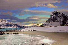 Arctic Beach (steinliland) Tags: snow mountains beach sand tide arctic shore lofoten lofotenislands steinliland alemdagqualityonlyclub vosplusbellesphotos visipix atomicaward