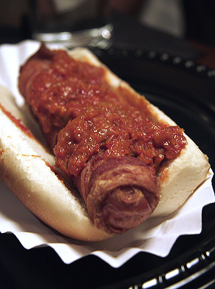 Please Don't Tell, New York - David Chang Kimchi Bacon Dog