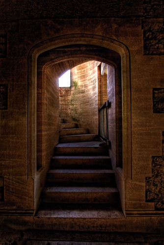 Woodchester Mansion - stairs to first floor