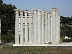 Temple of Venus and Rome — Columns (JustinMN) Tags: travel italy rome history architecture ancient ruins europe roman archeology templeofvenusandroma