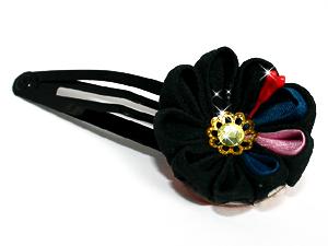 black gem tsumami kanzashi