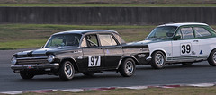 #97 Phill Taylor 1963 Holden EH & #39 Chris Dubois 1971 Ford Escort 1300 GT