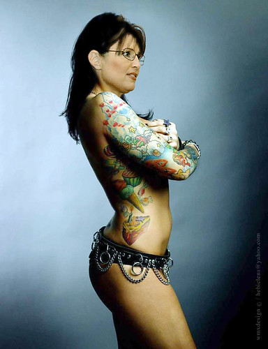 lady tattoo. Sarah Palin - Tattoo#39;d Lady