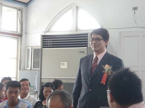 Groom Comes Down the Aisle