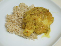 Poached Catfish in Coconut Coriander Sauce
