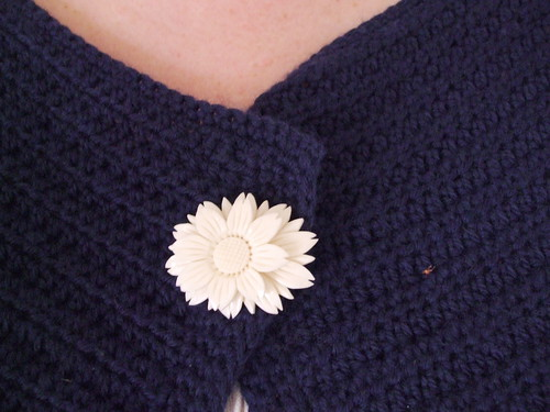 Faux ivory brooch