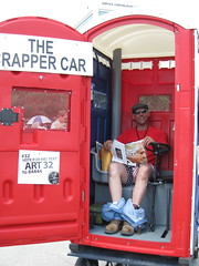 actually, it's the Crapper Car (cee emily) Tags: houston artcar artcarparade houstonartcarparade2009