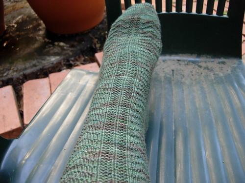 Textured Gansey Socks