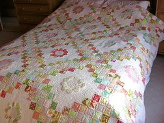 Triple Irish Chain with flowers 2 (flossyblossy) Tags: irish quilt heather chain bailey quilting patchwork triple freshcut