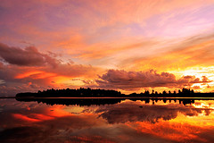 Reflective Sunset (matey_88 ( OFF )) Tags: sunset sea sky silhouette clouds majid maldives matey mohamed colouful addu feydhoo uniquemaldives theunforgettablepictures