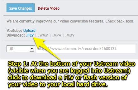 Download a UStream FLV file