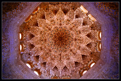 Alhambra's fractal (Megara Liancourt) Tags: spain palace ceiling alhambra granada fractal sonyalpha100