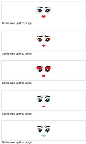 Geisha Head Decals  (free design)