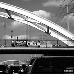 Bridge over Southwest Freeway, Rush Hour, Houston, Texas, June 12, 2009 thumbnail
