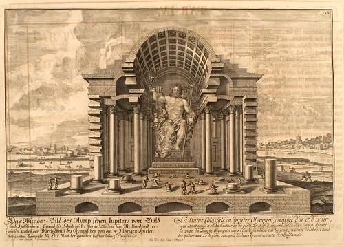 002- Estatua del coloso de Jupiter Olimpico-Entwurf einer historischen Architektur 1721- © Universitätsbibliothek Heidelberg