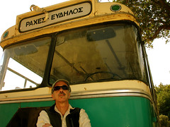 Hey dude, what year is the next bus to Rahes? (egotoagrimi) Tags: bus ikaria aegean greece transportation angelos evdilos lovebus rahes agrimi perameria
