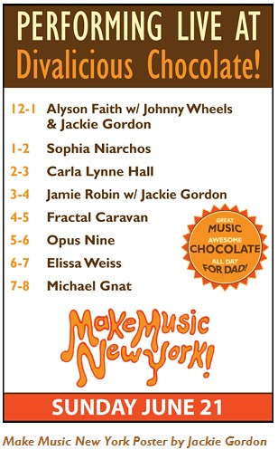 Make Music NY at Divalicious Chocolate!