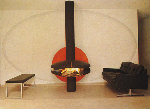 Fireplace, circle, oval