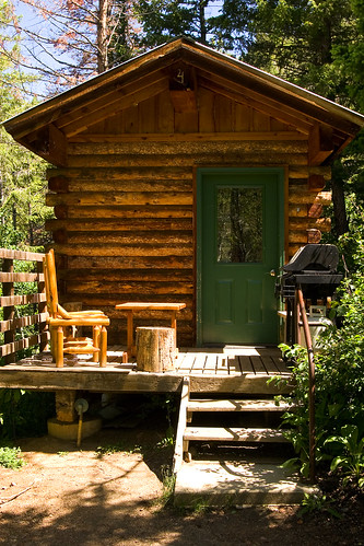 Cabin number four at Strawberry Park Hot Springs, just outside of Steamboat Springs.
