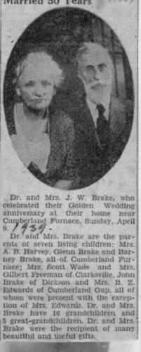 Dr. JW Brake article